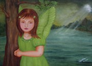 Fantasy Painting Originals - Miracle by Desiree Micaela