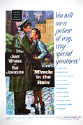 1956 Movies Photo Posters - Miracle In The Rain, From Left Van Poster by Everett