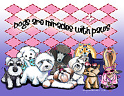 Toy Maltese Framed Prints - Miracles with paws Framed Print by Catia Cho