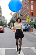 Full Skirt Art - Miranda Kerr, Poses For Photos by Everett
