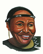 Award Drawings Framed Prints - Miriam Makeba Framed Print by Emmanuel Baliyanga