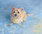 Terrier Art Painting Metal Prints - Miris Memory Metal Print by Kimberly Santini