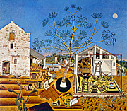 Modern Art Painting Metal Prints - Miro Farm Metal Print by Granger