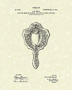 Mirror Back Design I 1907 Patent Art Print by Prior Art Design