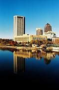 Columbus Ohio Framed Prints - Mirror Columbus Framed Print by Jonathan Michael Bowman