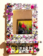 Decor Reliefs - Mirror Doodle  by Lizzie  Johnson