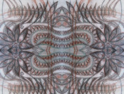Abstract Digital Drawings Prints - Mirror image Print by Ariela