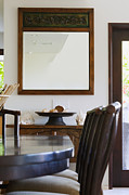Showcase-interior Prints - Mirror in a Dining Room Print by Inti St. Clair
