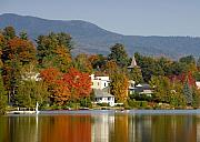 Adirondack Prints - Mirror Lake Print by David Lee Thompson