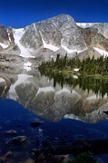 Mountain Tapestries - Textiles Prints - Mirror Lake Print by Nena Trapp