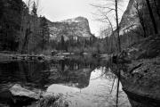 Blank And White Framed Prints - Mirror Lake Yosemite Framed Print by Louis Amore