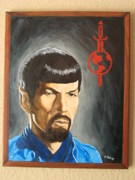 Spock Paintings - Mirror Mirror by Deirdre DeLay