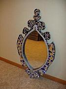Gothic Glass Art - Mirror Mirror by Shelly Bird