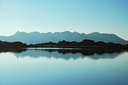 Mountain Range Photos - Mirror Mountain Lake by Maya Karkalicheva