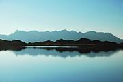 Mirror Mountain Lake Print by Maya Karkalicheva