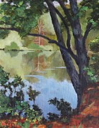 Great Outdoors Paintings - Mirror Reflection by Claire Gagnon