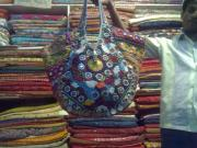 Ethnic Tapestries - Textiles - Mirror Work Bag by Dinesh Rathi