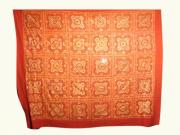Hand Made Tapestries - Textiles - Mirror Work Bed Covers by Dinesh Rathi