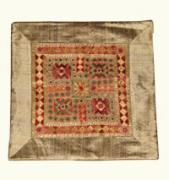 Cushion Tapestries - Textiles Originals - Mirror Work Cushion Cover by Dinesh Rathi