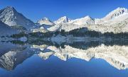 Little Lakes Valley Framed Prints - Mirrored Eastern Sierras Framed Print by Quincy Dein - Printscapes