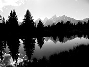 White River Scene Photo Originals - Mirrored Tetons by Jessica Duede