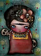 Kahlo Paintings - Mis Amigos by  Abril Andrade Griffith