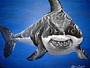 Sharks Paintings - Mischief by Sharon Supplee