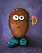Misfit Posters - Misfit Potato Head 3 Poster by Leah Saulnier The Painting Maniac