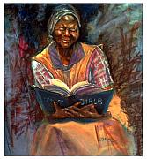 Bible Pastels Posters - Miss Betty Poster by Tommy  Winn