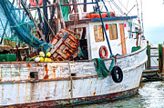 Dixie Framed Prints - Miss Hale Shrimp Boat - Side Framed Print by Scott Hansen