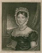 British Portraits Framed Prints - Miss Hannah Thatcher, A Deaf-mute Framed Print by Everett