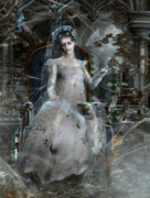 Decay Digital Art Metal Prints - Miss. Havisham Metal Print by Karen Koski