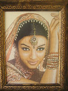 Picture Tapestries - Textiles Originals - Miss India by Veselina Simeonova