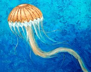 Jelly Fish Paintings - Miss Innocence  by Gary Partin