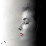 Katherine Hepburn Prints - Miss Katherine Print by Arne Hansen
