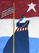 Patriotic Painting Originals - Miss Liberty by Bev Colando