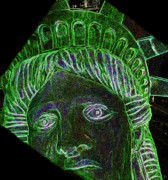 Liberty Island Digital Art - Miss Liberty by David Lee Thompson