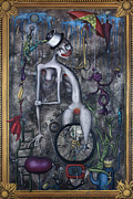 Scared Painting Metal Prints - Miss Millies Greatest Show On Earth Metal Print by Kelly Jade King