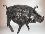 Pig Tapestries - Textiles - Miss Molly by Charlene White