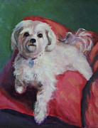 Maltese Dog Posters - Miss Molly Poster by Gretchen Ten Eyck Hunt
