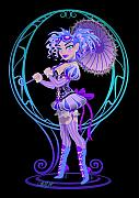 Burlesque Digital Art Metal Prints - Miss Penelope Metal Print by Cristina McAllister