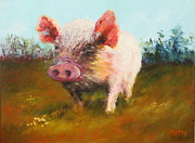 Pig Paintings - Miss Piggy by Marie Green