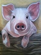 Miss Piggy Print by Stephanie L Carr