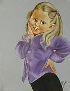 Girl Paintings - Miss Priss by Joni McPherson