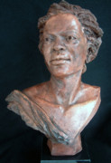 Clay Sculptures - Miss Rosa by Wayne Headley