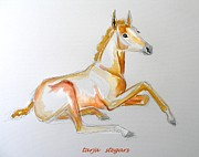 Horse Drawings Prints - Miss Springtime Print by Tarja Stegars
