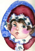 Santa Claus Drawings Posters - Miss Sugar Plum Poster by Mindy Newman