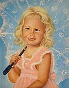 Child Paintings - Miss Sunshine by Joni McPherson