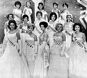 Hair Styles Framed Prints - Miss Usa 1961 Finalists In The First Framed Print by Everett