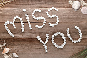 Words Background Posters - Miss You Poster by Olivier Le Queinec